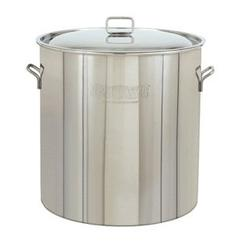 Bayou Classic 122 Qt. Stainless Steel Boiling Pot No Basket  w/Lid #1022