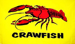 3 ft. x 5 ft. Crawfish Flags (Horizontal)