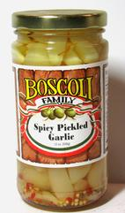 Boscoli Spicy Pickled Garlic 12 oz.