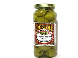 SUPER SALE!! Boscoli Jalapeno Stuffed Olives 16 oz. (2 LEFT!)