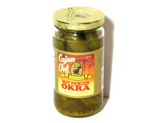 Cajun Chef Hot Pickled Okra 12 oz.