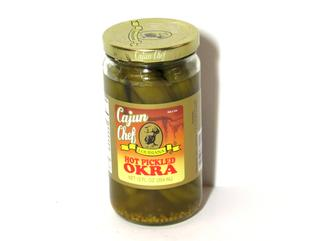 Cajun Chef Hot Pickled Okra 24 oz.