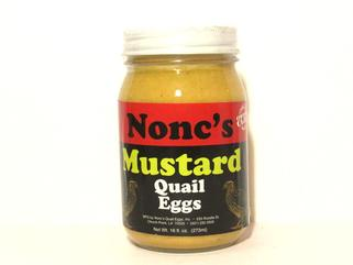 Nonc's Mustard Pickled Quail Eggs