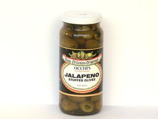 Occhi Jalapeno Stuffed Olives 16 oz.
